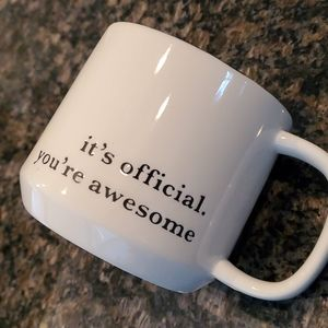 "Threshold Dining - Threshold ""Its official your awesome"" mug"